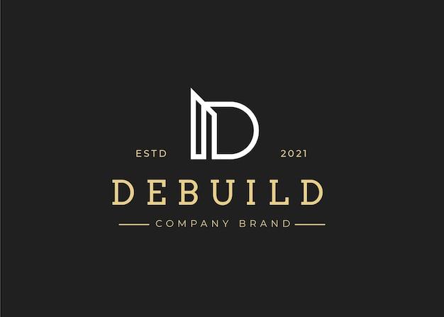 Minimalistyczny szablon projektu logo litery d, ilustracje wektorowe