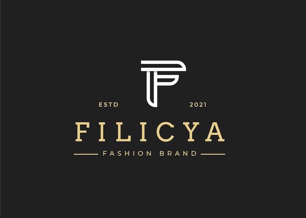 Minimalistyczny szablon projektu logo litery f początkowe, ilustracje wektorowe