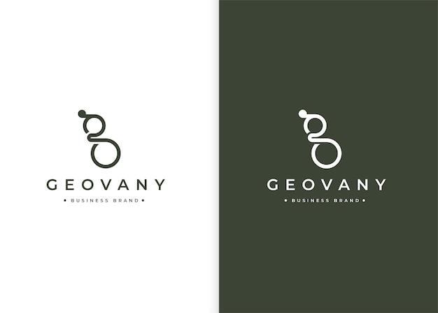 Minimalistyczny szablon projektu logo litery g