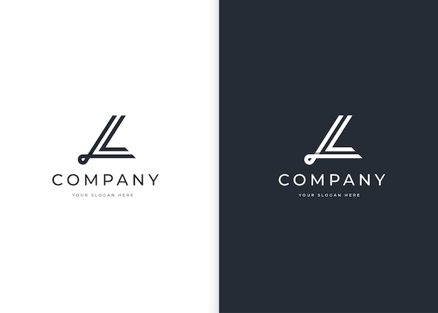 Minimalistyczny szablon projektu logo litery l