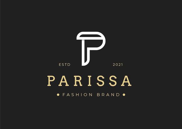 Minimalistyczny szablon projektu logo litery p, ilustracje wektorowe