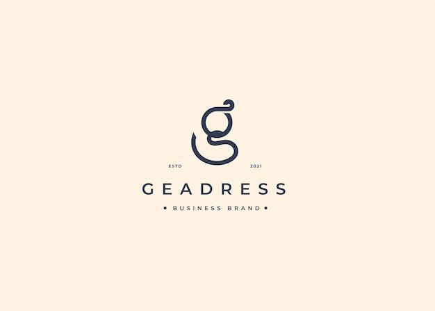 Minimalistyczny szablon projektu logo z literą g