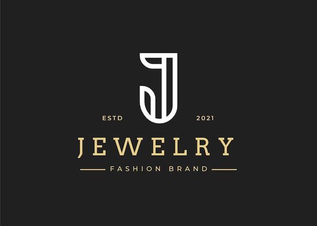 Minimalistyczny szablon projektu logo z literą j, ilustracje wektorowe
