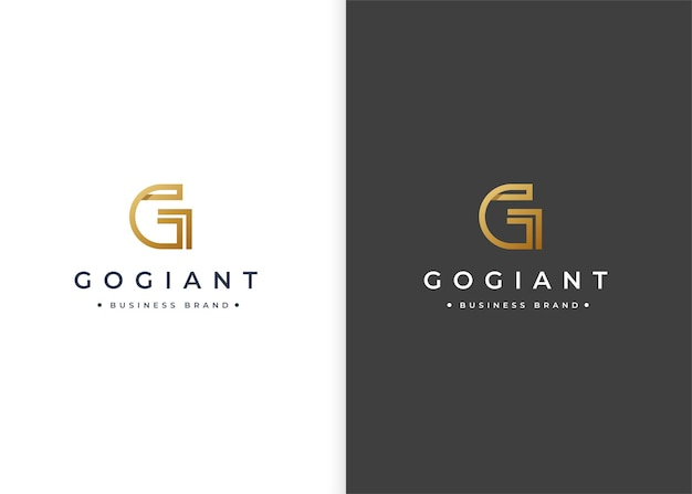Minimalistyczny szablon projektu luksusowego logo litery g