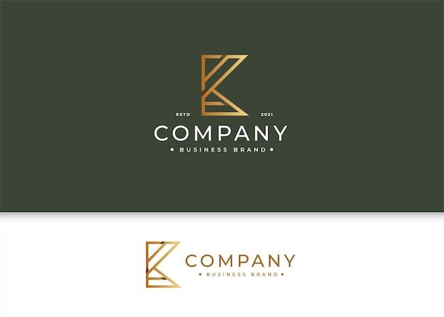 Minimalistyczny szablon projektu luksusowego logo litery k