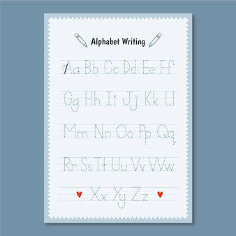 Minimalistyczny szablon śledzenia alfabetu