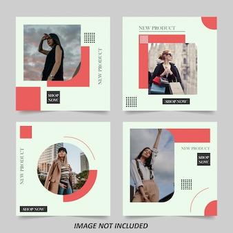 Minimalistyczny szablon transparent sprzedaż moda