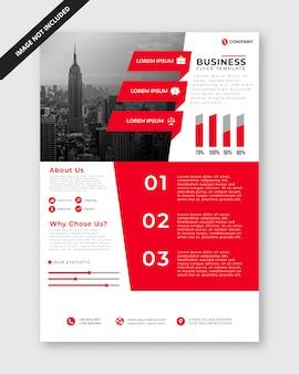 Minimalistyczny szablon ulotki biznesowe