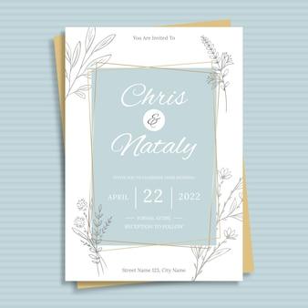 Minimalistyczny szablon zaproszenia ślubnego