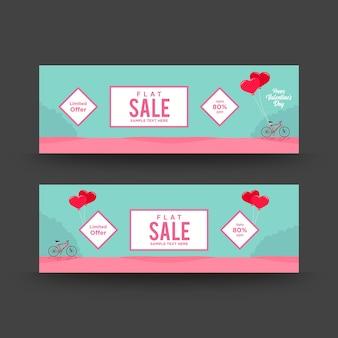 Minimalistyczny valentine sprzedaż tkanina transparent z morze zielone tło