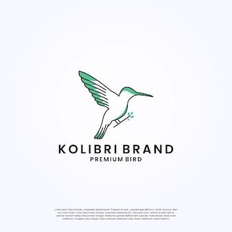 Minimalistyczny wektor projektu logo brzęczącego ptaka