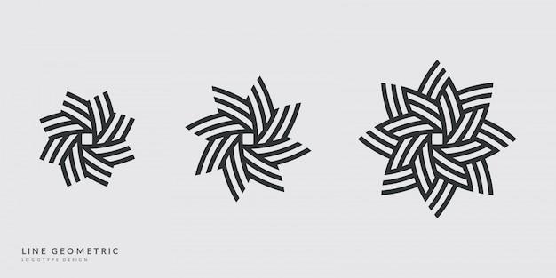 Minimalistyczny wygląd logo. symbole kwiatów, słońca lub gwiazd.