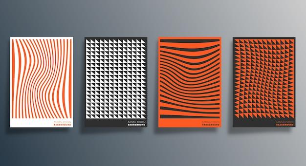Minimalistyczny wzór geometryczny na ulotkę, plakat.