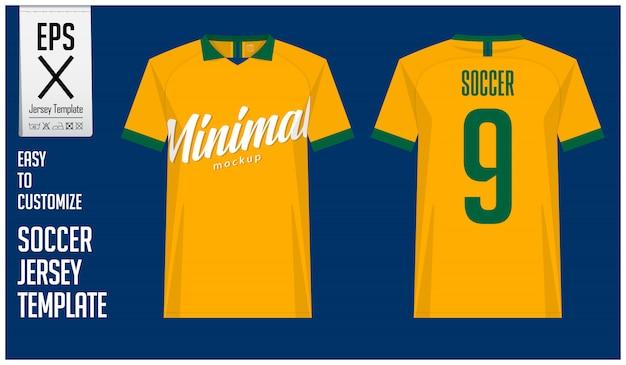 Minimalistyczny wzór koszulki piłkarskiej lub piłkarskiej