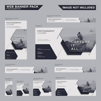 Minimalistyczny zestaw bannerów internetowych