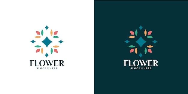 Minimalistyczny zestaw kolorowych kwiatków