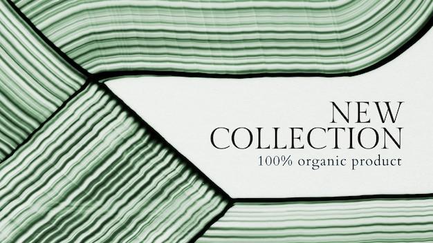 Minimalna abstrakcyjna sztuka szablon wektor nowa kolekcja banerów na zakupy