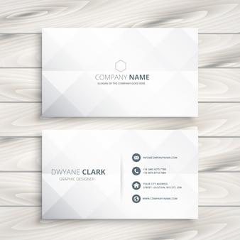 Minimalna biała wizytówka szablon