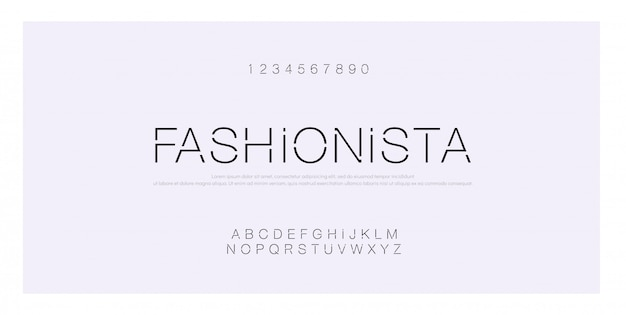 Minimalna czcionka kreatywna nowoczesny alfabet