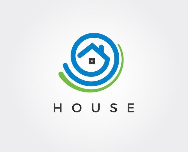 Minimalna ilustracja szablonu logo domu