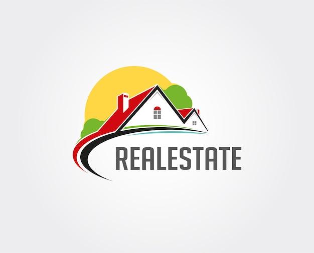 Minimalna ilustracja szablonu logo nieruchomości