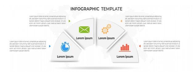 Minimalna infografika 4 opcje.