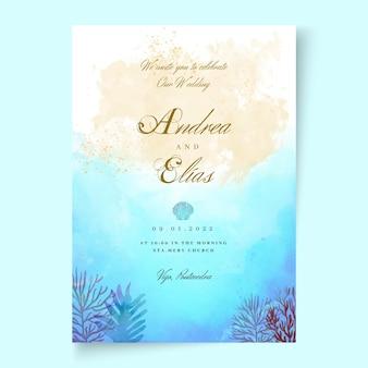 Minimalna karta ślubna