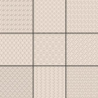 Minimalna kolekcja beżowy wzór geometryczny