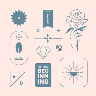 Minimalna kolekcja elementów logo w dwóch kolorach
