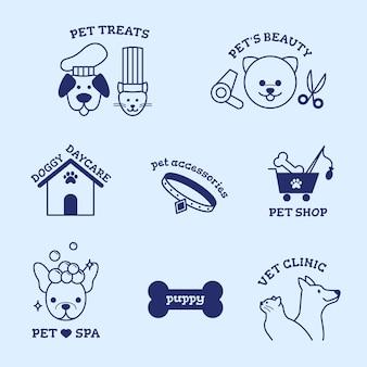 Minimalna kolekcja elementów logo