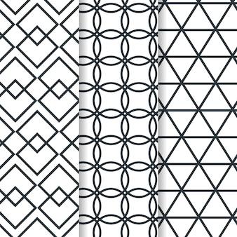 Minimalna kolekcja geometryczny wzór