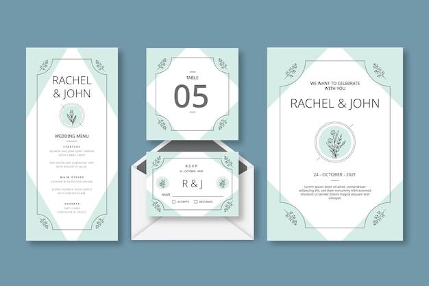 Minimalna kolekcja papeterii ślubnej