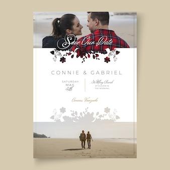 Minimalna koncepcja karty ślubu
