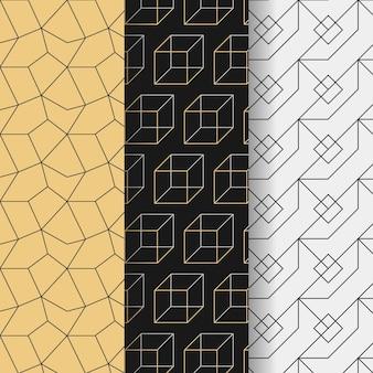 Minimalna konstrukcja wzorów geometrycznych