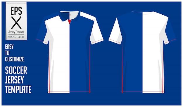 Minimalna koszulka piłkarska lub szablon piłkarski