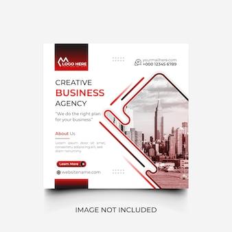 Minimalna kreatywna agencja biznesowa szablon mediów społecznościowych