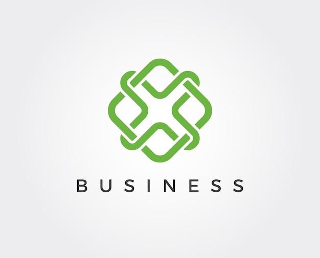 Minimalna litera x szablon logo