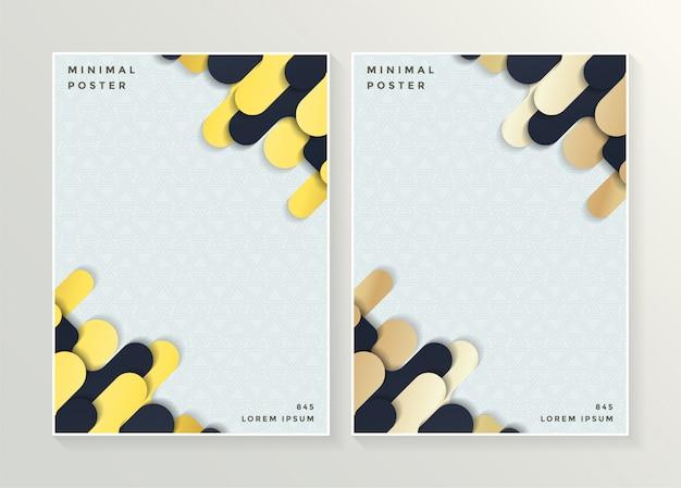 Minimalna okładka w kolorze złotym. streszczenie wektor geometryczny wzór.