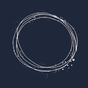 Minimalna okrągła ramka do grafiki liniowej