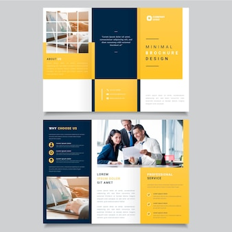 Minimalna potrójna broszura