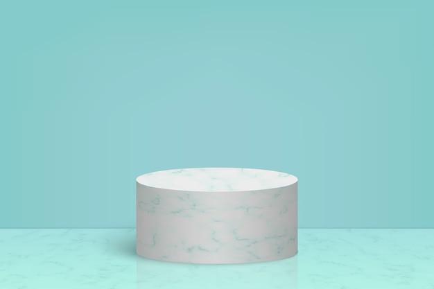 Minimalna scena z marmurowym kamiennym podium, tło prezentacji produktów kosmetycznych