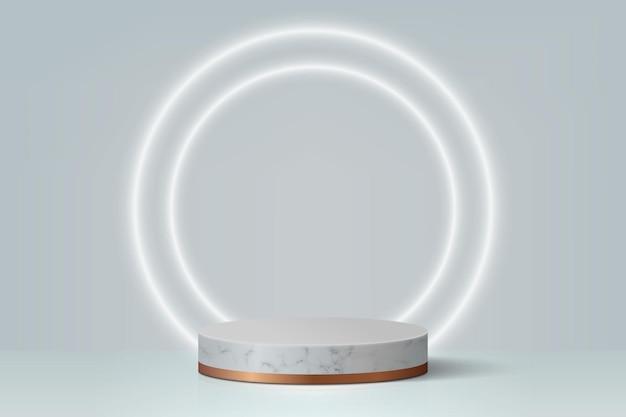 Minimalna scena z podium, tło prezentacji produktu kosmetycznego