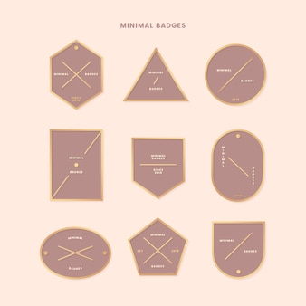 Minimalna złota kolekcja odznak