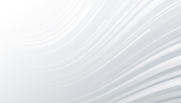 Minimalne białe i szare tło z falistymi liniami