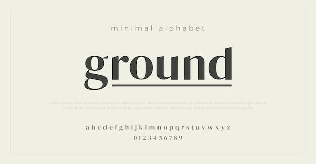 Minimalne czcionki alfabetu.