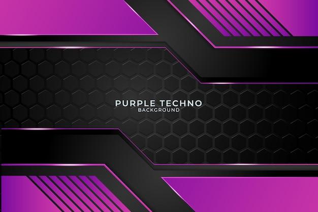 Minimalne fioletowe tło techno. ilustracja abstrakcyjny kształt geometryczny nowoczesny futurystyczny wektor premium