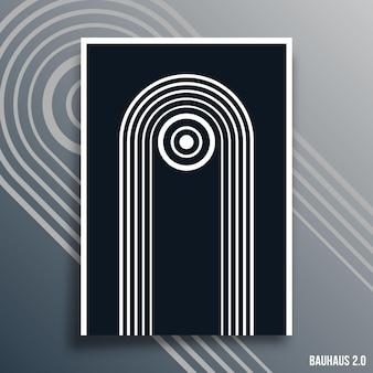 Minimalne geometryczne tła dla ulotek, plakatów, okładek broszur, typografii lub innych produktów poligraficznych. ilustracja wektorowa.
