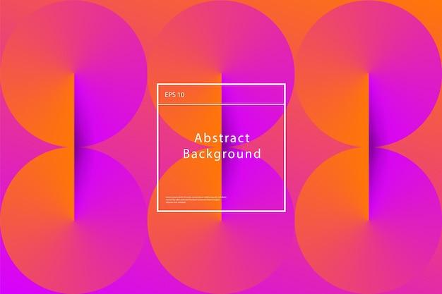 Minimalne geometryczne tło gradientowe. dynamiczna kompozycja kształtów. wektor eps10 do prezentacji, czasopism, ulotek, plakatów i wizytówek.
