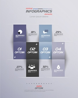 Minimalne infografiki. płaska konstrukcja.