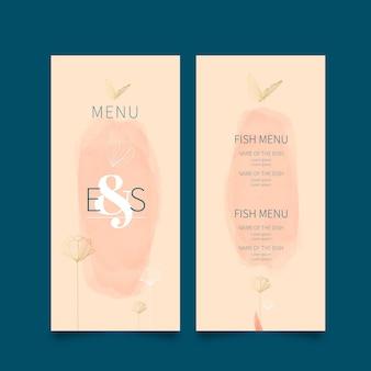 Minimalne menu weselne
